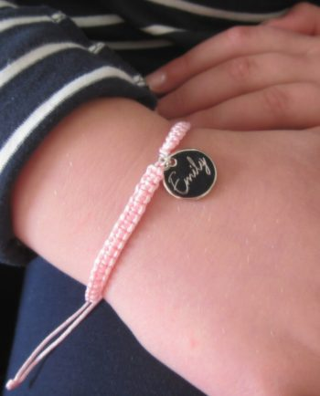 Personalised Script Girls Friendship Bracelet