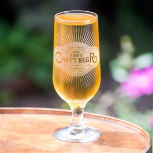 Tall Personalised Craft Beer Glass