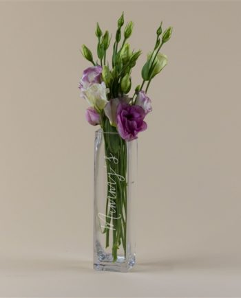 Personalised Slim Script Name Vase