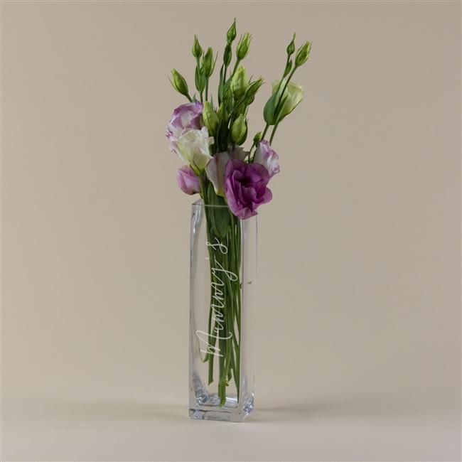 Personalised Slim Script Vase