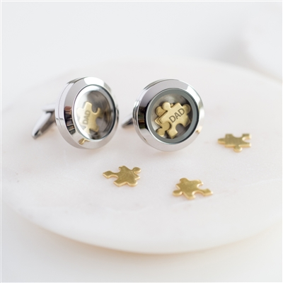 Personalised 'Love You To Pieces' Cufflinks
