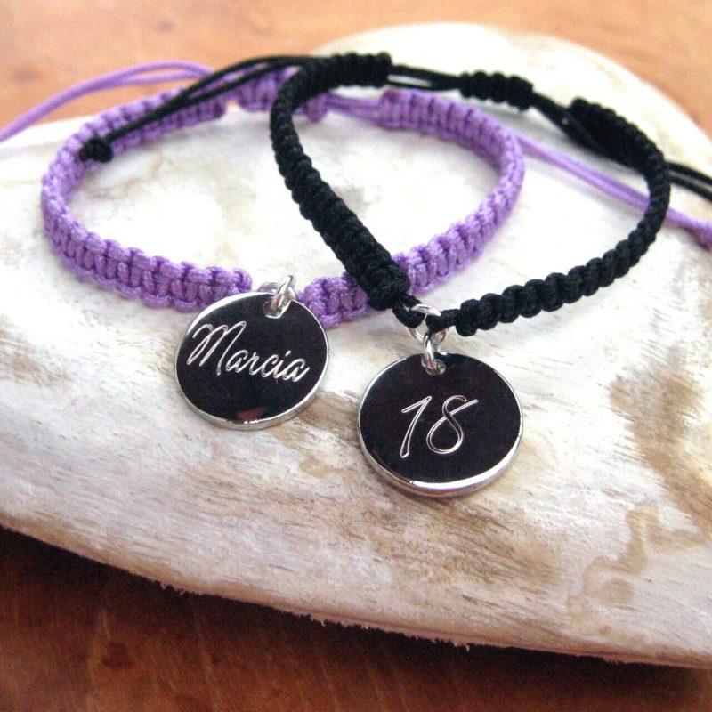 Personalised Script Girls Friendship Bracelet