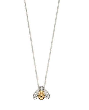 Bumble Bee 9ct Gold & Sterling Necklace