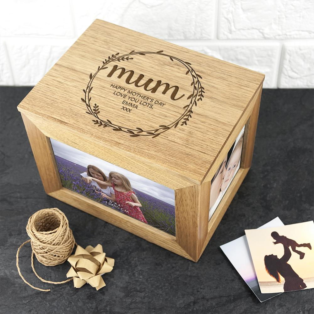 wooden photo cube for her
