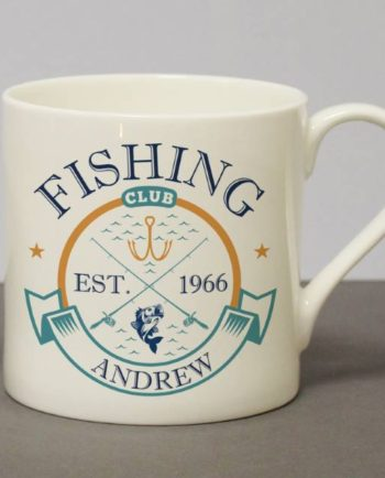 Personalised 'Fishing Club' Chunky Bone China Mug