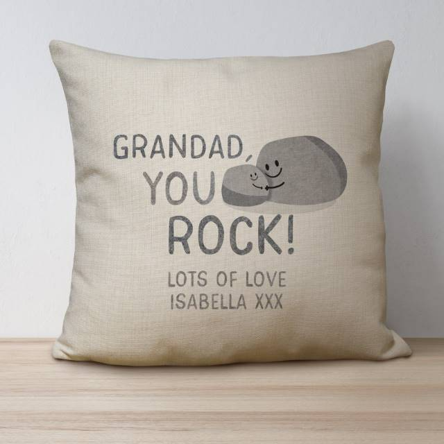 Personalised 'You Rock' Linen Cushion