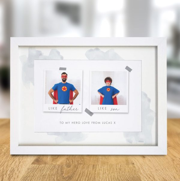 Personalised 'Like' Polaroid A4 Framed Print