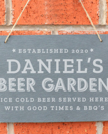 Personalised 'Beer Garden' Large Hanging Slate Sign