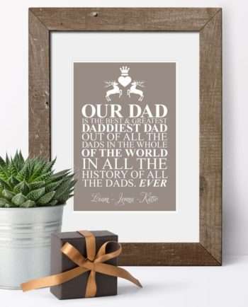 Father's Day Personalised Print