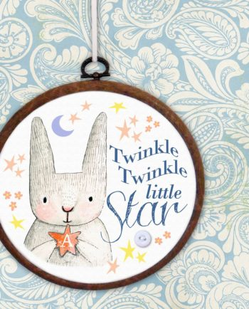 Twinkle Twinkle Little Star Embroidery Hoop Print