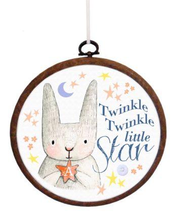 'Twinkle Twinkle Little Star' Embroidery Hoop Print
