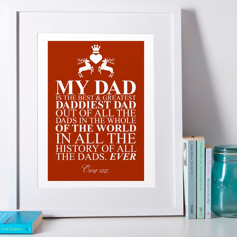 Father's Day 'Best Dad' Personalised Print