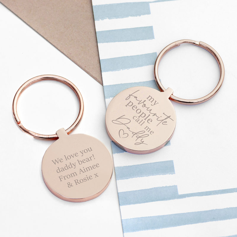 Personalised Favourite Daddy Keyring