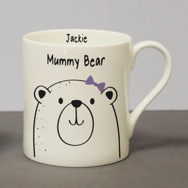 Personalised Mummy Bear Large Balmoral Mug