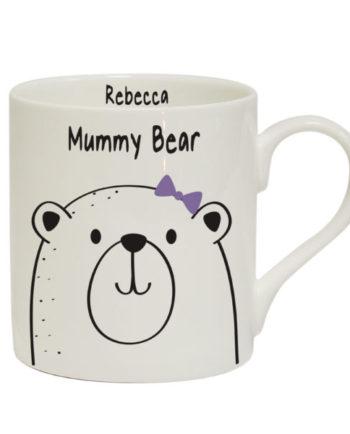 Personalised Gifts > Mummy Bear Large Balmoral Mug