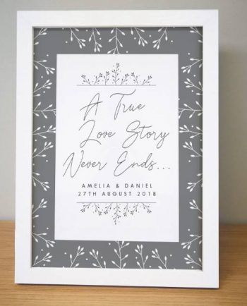 True Love Story Framed Print