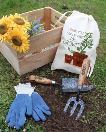 Personalised Helping Me Grow Garden Tool Set