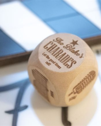 Personalised Charades Wooden Dice