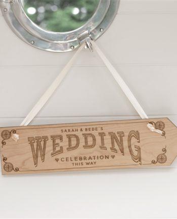 Personalised Celebration Wedding Sign