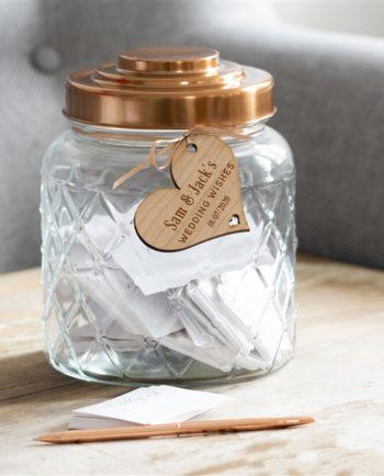 Personalised Wedding Wish Jar