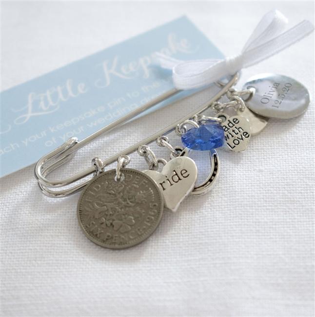 Personalised Wedding Day Bridal Pin