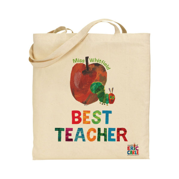 Personalised Hungry Caterpillar Best Teacher Tote Bag