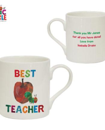 Personalised Hungry Caterpillar Best Teacher Balmoral Mug
