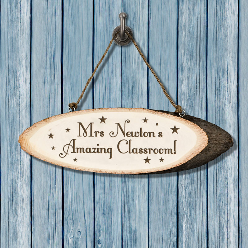 Personalised 'Super Star' Teacher's Wooden Classroom Sign