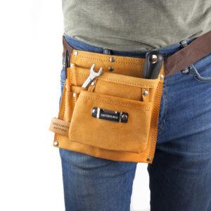Personalised 6-pocket Leather Tool Belt