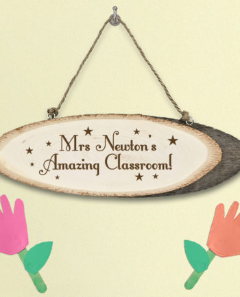 Personalised Super Star Teacher's Wooden Classroom Sign Gift
