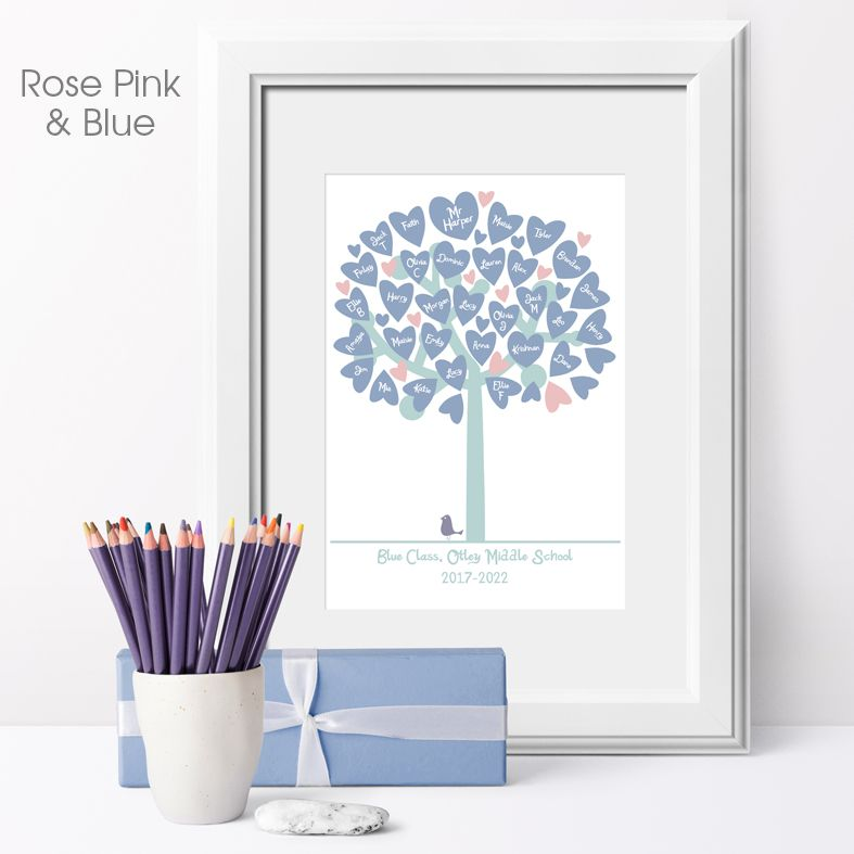 Personalised Classroom Tree Print