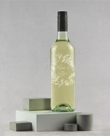 Personalised Engraved Wreath Wine
