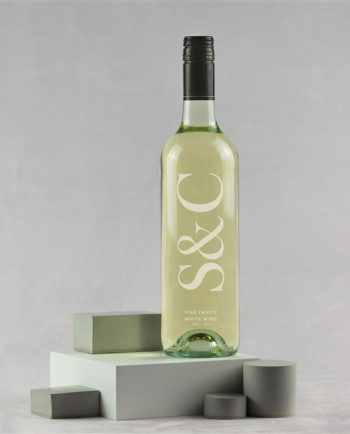 Personalised Engraved Initials Bottle of Wine