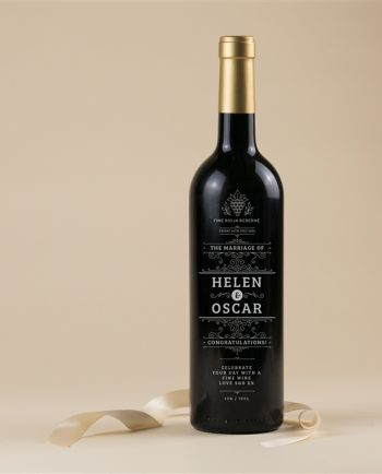 Personalised Engraved On Your Wedding Day Wine