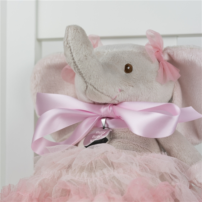 Nosey The Personalised 'Pretty In Pink' Elephant