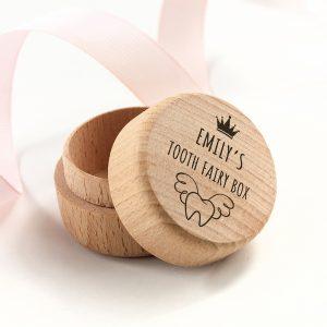 Personalised Tooth Fairy Wooden Keepsake Box