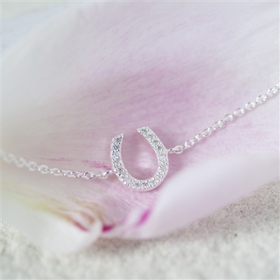 Lucky Horseshoe Sterling Silver Bracelet