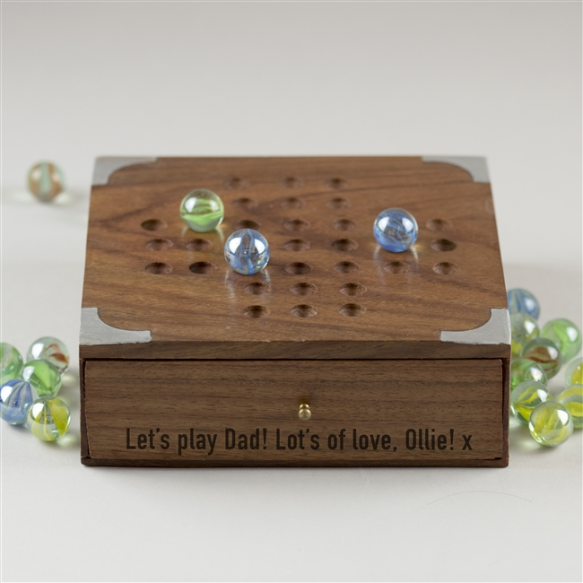 Personalised Wooden Solitaire Set