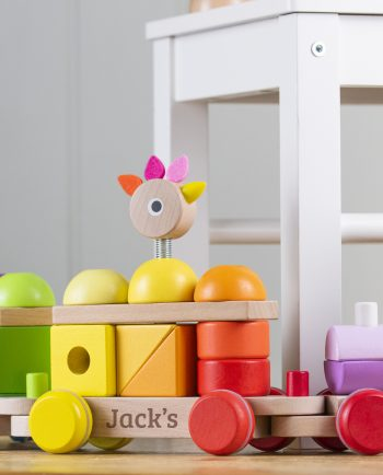 Giant Personalised Multicoloured Wooden Train
