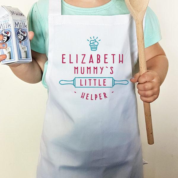 Personalised Mummy's Little Helper Cupcake Child's Apron