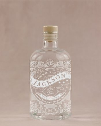 Personalised Gin Time Engraved Gin Bottle