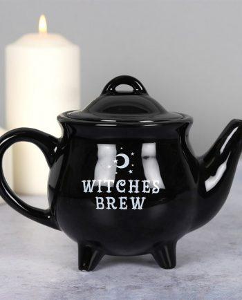 Witches Brew Black Ceramic Tea Pot