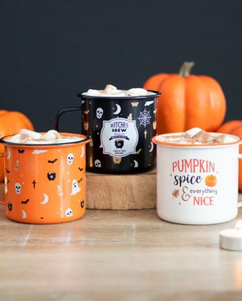Halloween Print Enamel Mug