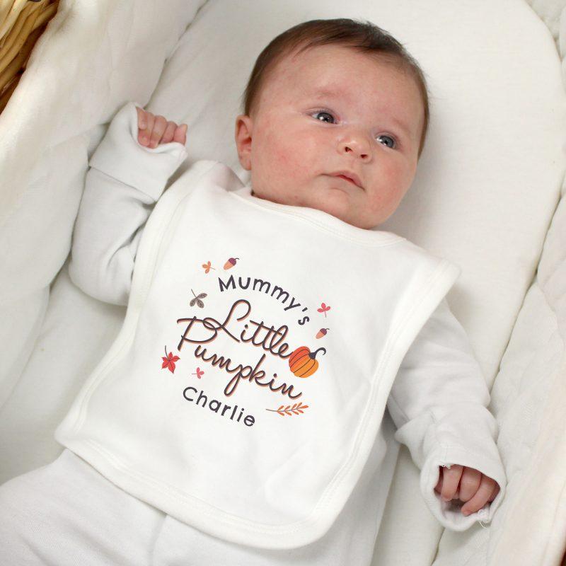 Personalised Little Pumpkin Baby Bib