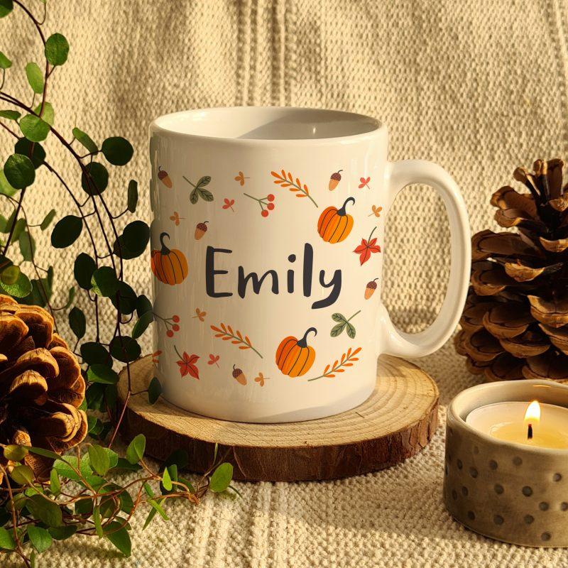 Personalised Autumn Pumpkin Mug