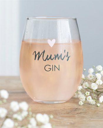 Mum's Gin Stemless Glass