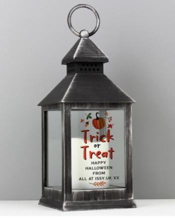 Personalised Trick or Treat Black Lantern