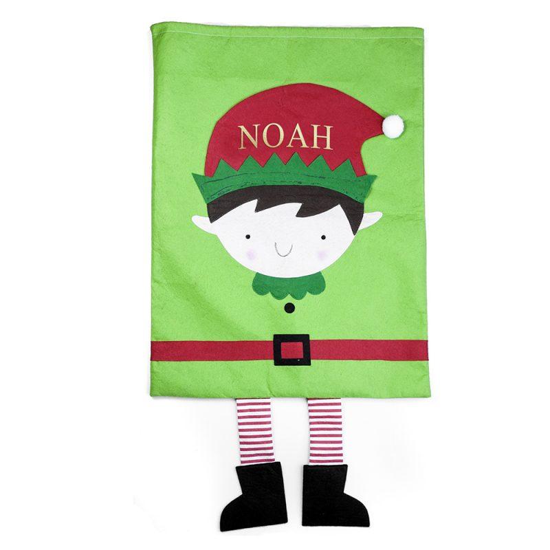 Personalised Christmas Elf Santa Sack